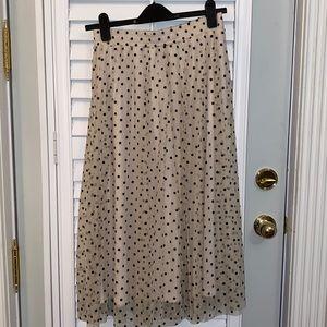 NWOT Maxi skirt with polka dots